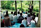 富山教会の野外礼拝
